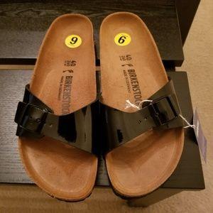 New Birkenstock Madrid Black Sandals
